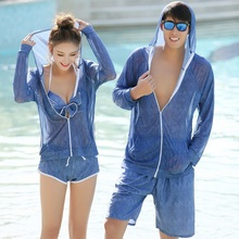Lovers'Swimming Suit 2018 New Kind of Swimming Suit South Korea Seaside Vacation Swimming Suit Beach Sexy Spa for Men and Women