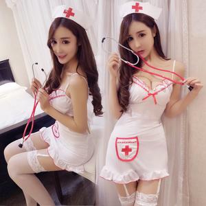 性感护士制服包臀短裙吊袜带职业套装清纯女仆情趣内衣激情ol夜店