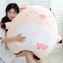 Dolls, pigs, dolls, plush toys, lovely super sprouting size, sleeping pillow with you, a doll's birthday gift on the bed.