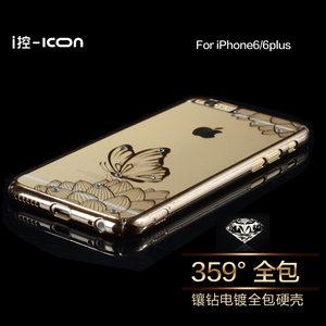 ICON苹果iphone6splus手机壳轻薄透明套i6靓丽水钻女款六<span class=H>?;ぬ?/span>