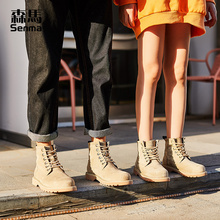 Sunma Cotton Boots Men Winter Plushing and Thickening Thermal Shoes Trend 2018 New Briton Lover Martin Boots Men
