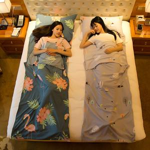 隔脏<span class=H>睡袋</span>成人户外宾馆出差便携式双人室内防脏被套旅行酒店床单人