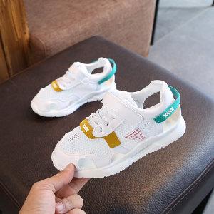 儿童<span class=H>运动鞋</span>2018夏季新款女童时尚半凉鞋韩版男童透气休闲跑步鞋潮