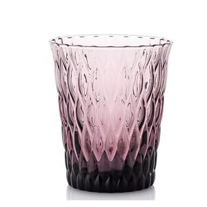 现货 意大利产  精美浮雕纹 <span class=H>水晶</span><span class=H>玻璃杯</span>果汁杯 四款可选