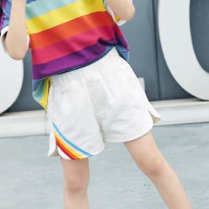 娜维莉2019夏季新款女童短裤时尚休闲儿童<span class=H>牛仔裤</span>纯棉小女孩裤子