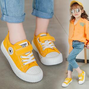 新款韩版幼儿园宝宝休闲帆布鞋