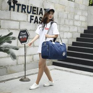 韩版大容量斜挎旅行<span class=H>袋</span>手提旅行<span class=H>袋</span>可装衣服的包包行李包女旅游包男