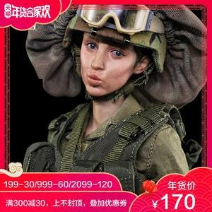 预售 1/6女兵人带表情嘟嘴头雕脸谱模玩 FP-H-003头雕