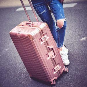 复古行李箱24防刮款铝框<span class=H>拉杆箱</span>男女26密码旅行箱20皮箱子韩版28寸
