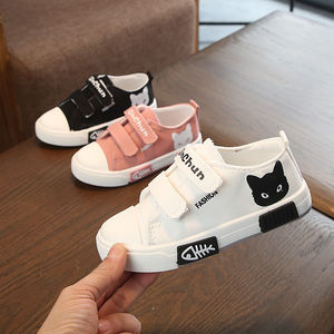 夏季男女童鞋帆布鞋中大童防滑运动鞋