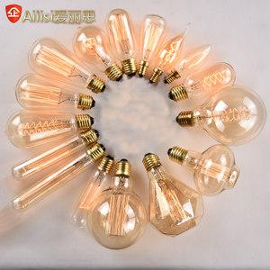 爱迪生<span class=H>灯泡</span>复古钨丝灯E27螺口创意艺术个性装饰白炽灯E14暖光光源