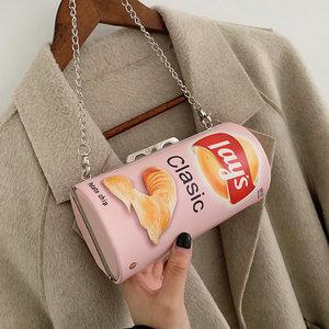 水<span class=H>桶包</span>包女包新款2019网红同款时尚洋气斜跨个性薯片韩版单肩包潮