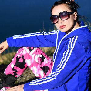 北京森林户外冬季保暖防风防水休闲透气抓绒软壳衣冲锋衣裤套装女