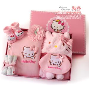 新生儿衣服礼盒冬季初生婴儿棉衣披风套装女宝宝满月百天创意礼物