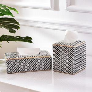 纸盒轻奢陶瓷<span class=H>纸巾盒</span>简约茶几风格抽客厅卷纸餐巾客厅马赛克纸抽盒