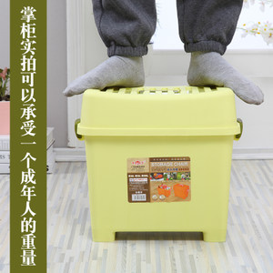 浴室脚蹬玩具收纳凳子塑料儿童换鞋凳多功能<span class=H>储物凳</span>家用可坐成人