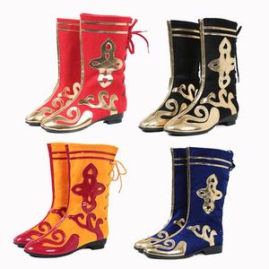 新款少数民族舞蹈鞋蒙古藏族演出美猴王走秀男女舞龙舞狮打鼓<span class=H>靴子</span>