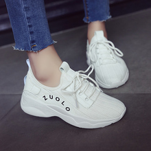 Female white sports shoes hole mesh cloth shoes women's sports shoes