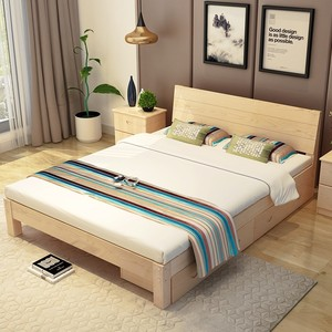 实木高箱床1.5米储物床1.8米收纳床箱体床卧室双人床低箱床