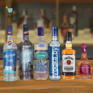 一杯新手调酒洋酒套餐 6款基酒朗姆<span class=H>伏特加</span>金酒龙舌兰威士忌白兰地
