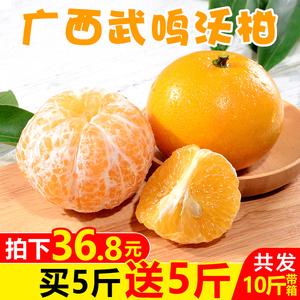 广西武鸣沃柑带箱10斤新鲜当季<span class=H>水果</span>桔子丑橘子砂糖皇帝柑批发包邮