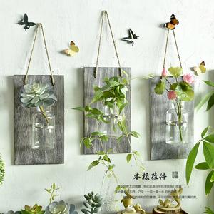 创意壁挂玻璃水培花瓶墙面墙<span class=H>壁饰</span>挂件花艺植物家居墙上<span class=H>挂饰</span>装饰品
