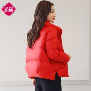 短款羽绒<span class=H>棉衣</span>女2018新款冬季韩版潮流面包服时尚百搭女士小棉袄潮