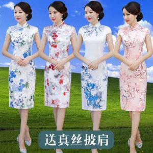 <span class=H>旗袍</span>裙中长款优雅春夏季日常改良年轻款少女中国风时尚新式连衣裙
