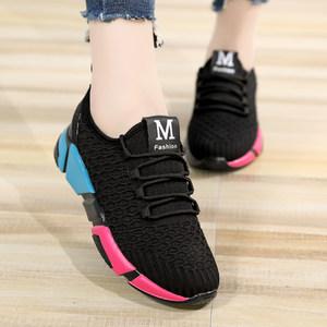 女鞋子2019新款初中学生<span class=H>运动鞋</span>女韩版百搭女生厚底休闲透气跑步鞋