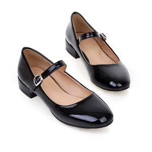 高跟<span class=H>皮鞋</span>漆皮中大童女童韩版学生公主鞋新款演出鞋黑色表演女鞋子