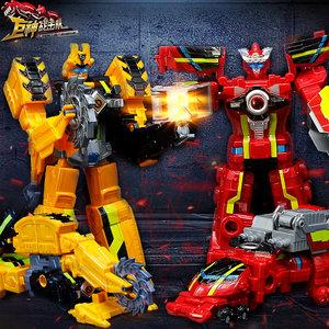 正版巨神战击队3儿童玩具变形机器人汽车人消防车金刚套装男孩5岁