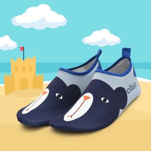 儿童卡通沙滩袜浮潜防割防滑潜水鞋女涉水溯溪游泳男赤足速干软鞋