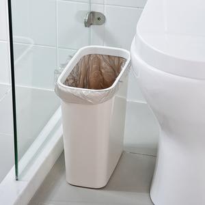 卫生间缝隙<span class=H>垃圾桶</span>家用厨房塑料简约夹缝无盖长方形压圈垃圾筒小号