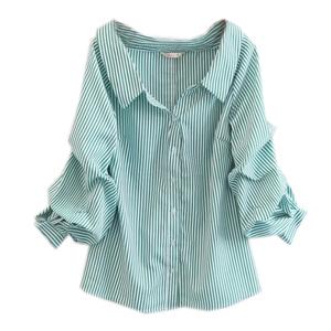 2019夏季新款<span class=H>女裝</span> 寬松袖子夢幻領口襯衫女 潮流顯瘦純色罩衫雙色