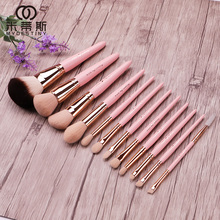 My destiny/Mitis Cherry Pollen Series 12 Cosmetic Brushes Suite Complete Beginner Cosmetic Tools