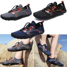 Outdoor men and women diving upstream shoes beach wading sho