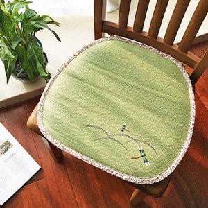 日式榻榻米草席坐垫夏季办公室透气凉席座垫学生教室宿舍椅子椅垫