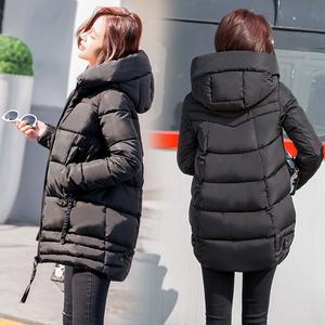 反季棉袄2018新款韩版<span class=H>棉衣</span>女冬季修身显瘦连帽中长款棉服外套女潮