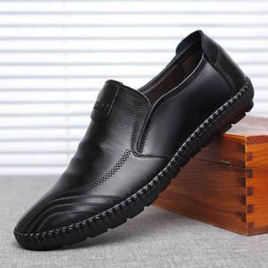 71 新款秋季休闲男士皮鞋真皮软牛皮皮鞋男软底单鞋软面商务男鞋