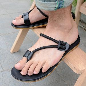 越南2018<span class=H>新</span>款<span class=H>时尚</span>个性拖鞋男士简约夹脚夏季户外<span class=H>橡胶</span>休闲潮流凉鞋