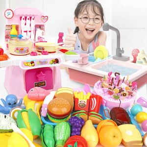 儿童做饭厨房<span class=H>玩具</span>女孩套装仿真厨具女童煮饭过家家5生日礼物3-6岁