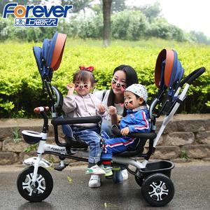 双胞胎儿童三轮车双人宝宝脚踏车1-3-5岁婴儿轻便手推车大号<span class=H>童车</span>