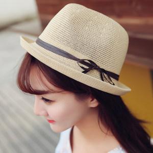 韩版鹿角草帽男童女童 儿童帽子 春夏款宝宝盆帽可爱遮阳帽太阳