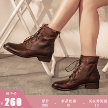 Martin Boots Autumn Style 2019 New Tide Head Cowhide Boots Net Red Locomotive Boots Retro Shoes Ins Tide