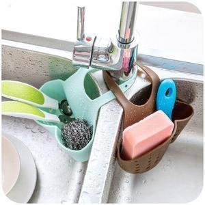领3元券购买水槽塑料沥水篮收纳挂篮厨房小用品厨具置物架收纳架沥水架置物架