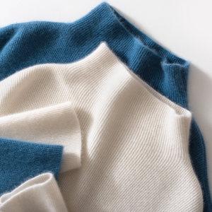 半高领纯<span class=H>羊绒衫</span>女宽松大码加厚套头毛衣韩版针织打底绒衫秋冬季