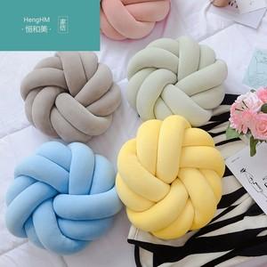 恒和美ins手工编织创意抱枕沙发客厅北欧简约风纯色可爱花型<span class=H>靠垫</span>3