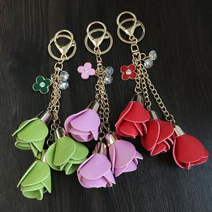 简约创意个性礼品玫瑰花钥匙扣汽车钥匙挂件挂饰女款男士包挂腰挂