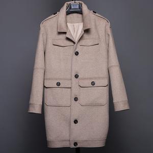 三千丈冬季东北方时尚特大码胖子大号妮子加厚呢子羊毛<span class=H>大衣</span>男外套