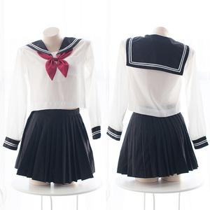 七了个三日本系性感JK制服校服学院透明情趣软妹萌动漫COS水手服